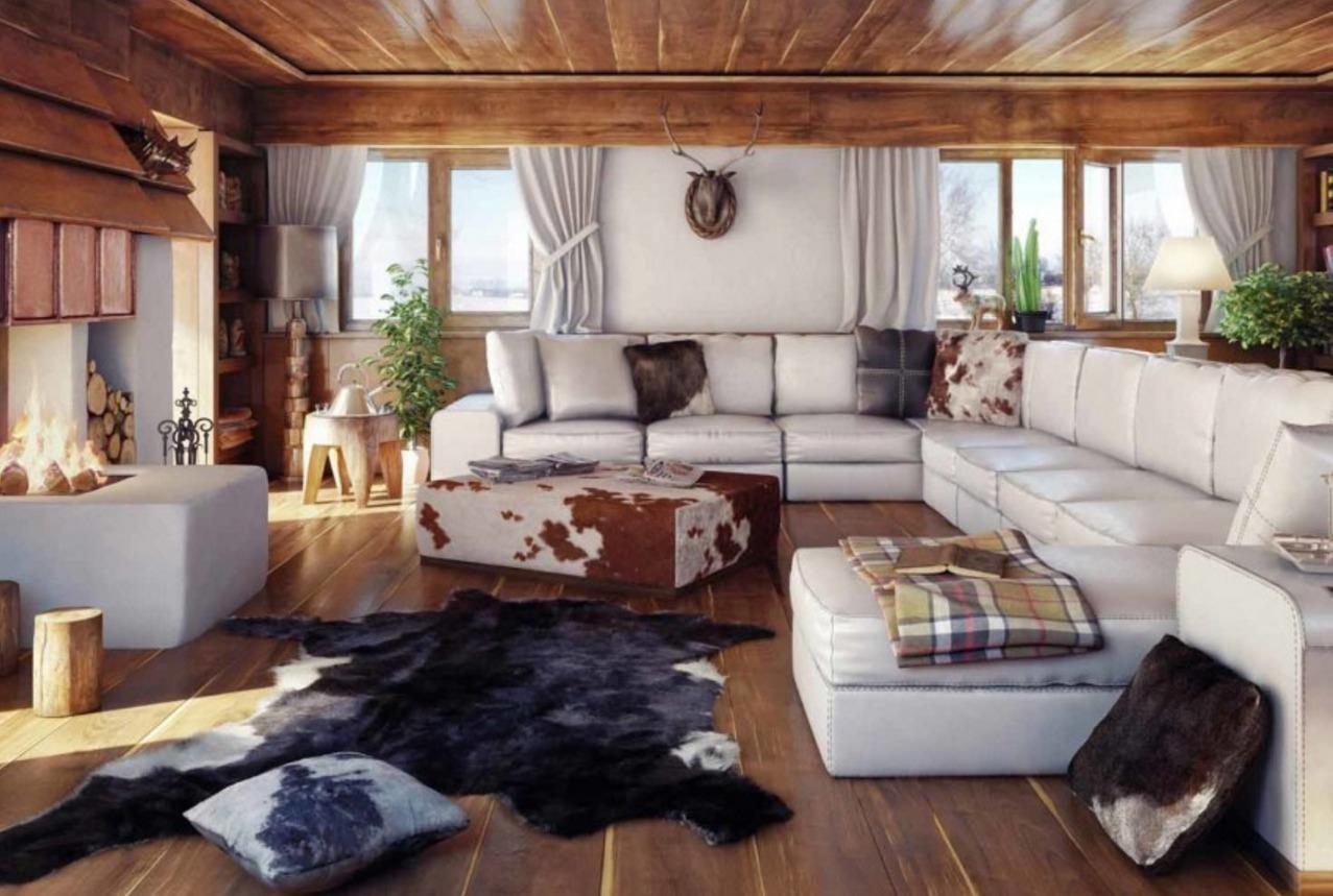 Design chalet caratteristiche distintive di stile pavimenti nell