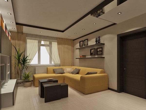 Дизайн проходных гостиных комнат 50