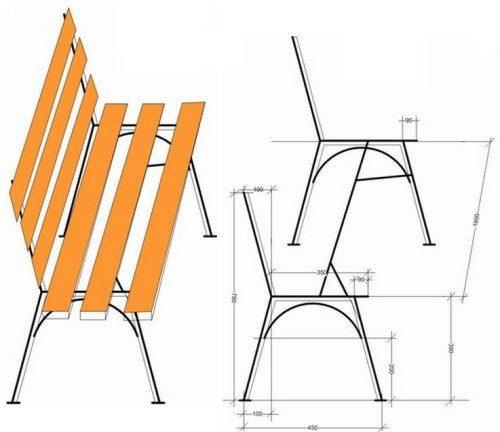Конструкция садовых скамеек своими руками