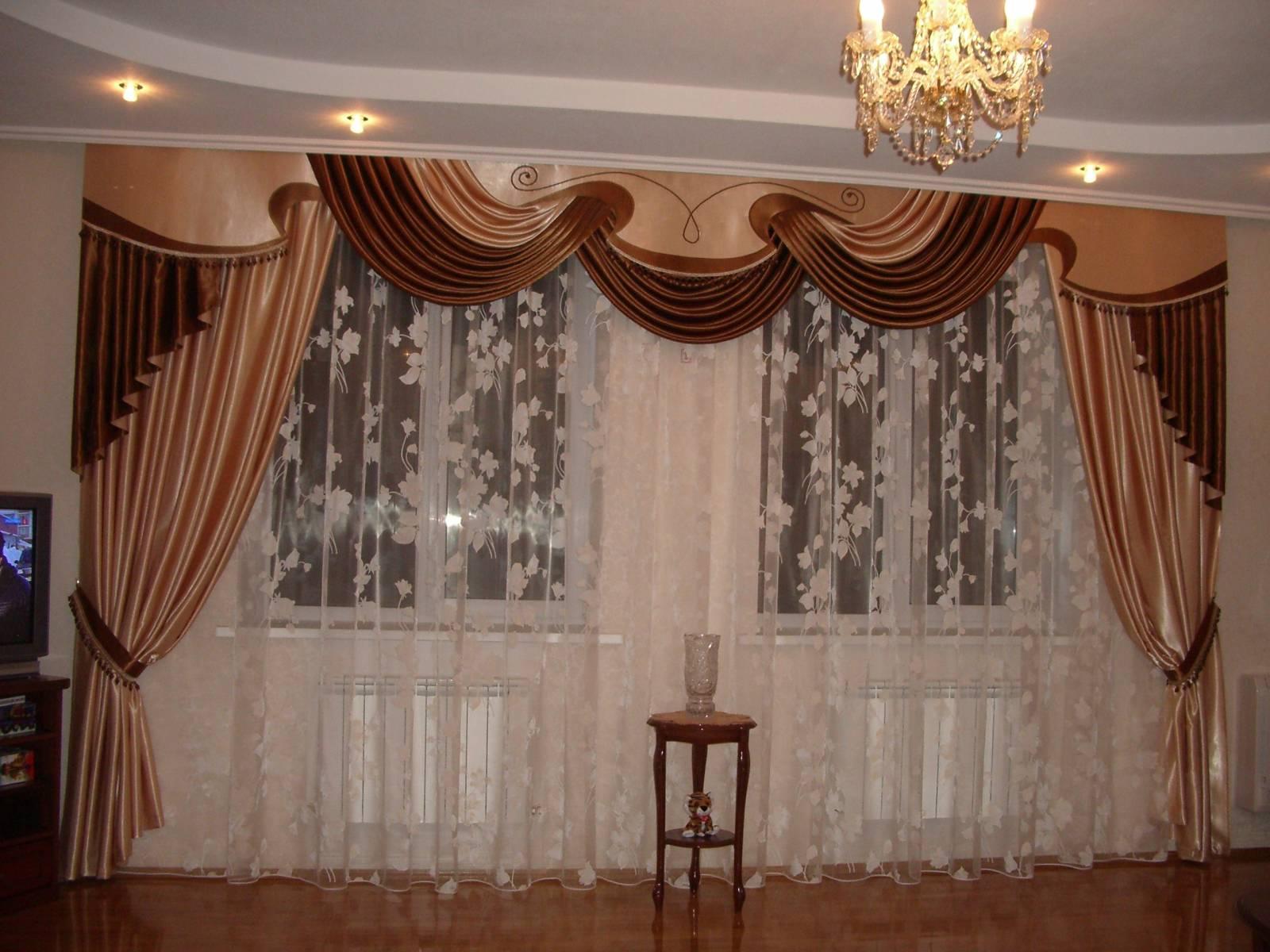 Шторы дизайн для зала с ламбрекеном