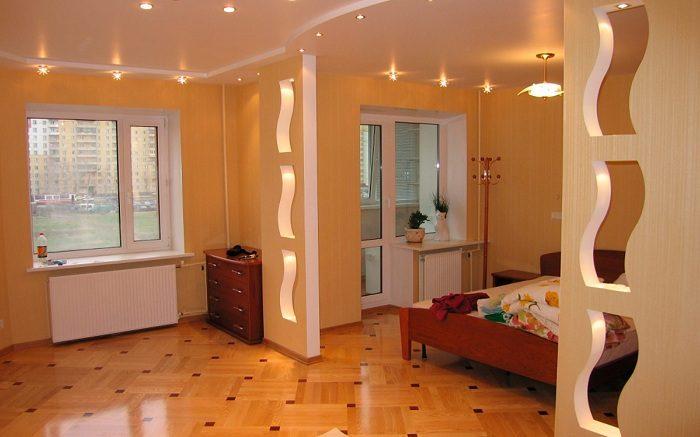 Межкомнатные перегородки в квартире из гипсокартона
