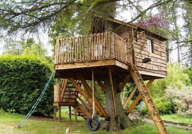 Дом на дереве своими руками детский 558