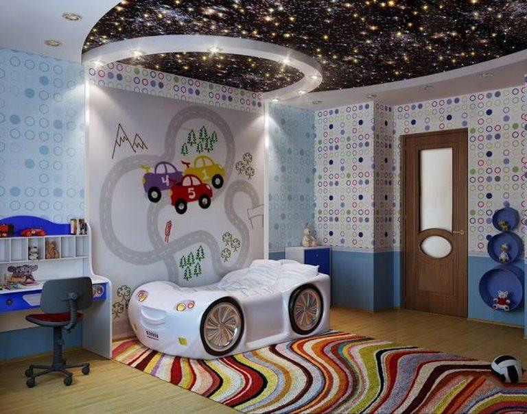 Натяжные потолки дизайн для детской комнаты для