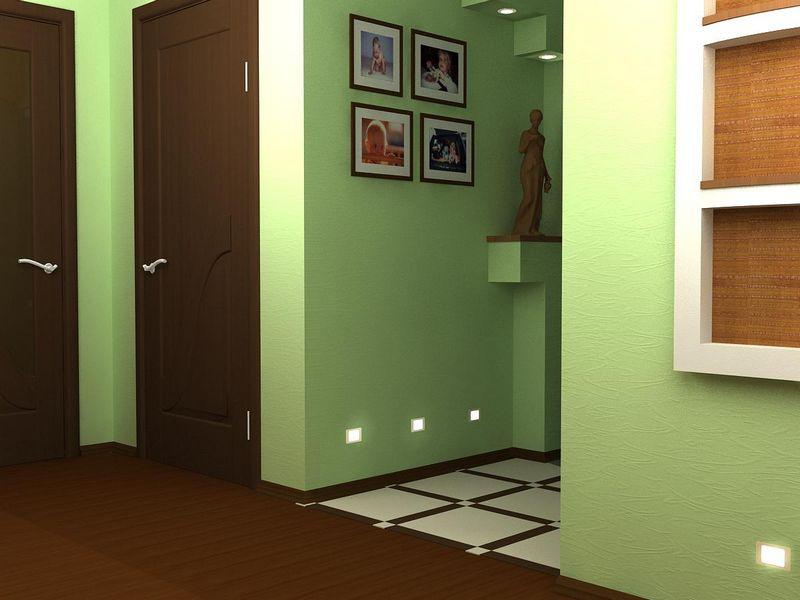 Design moderno delle piastrelle del pavimento ingresso nero nella