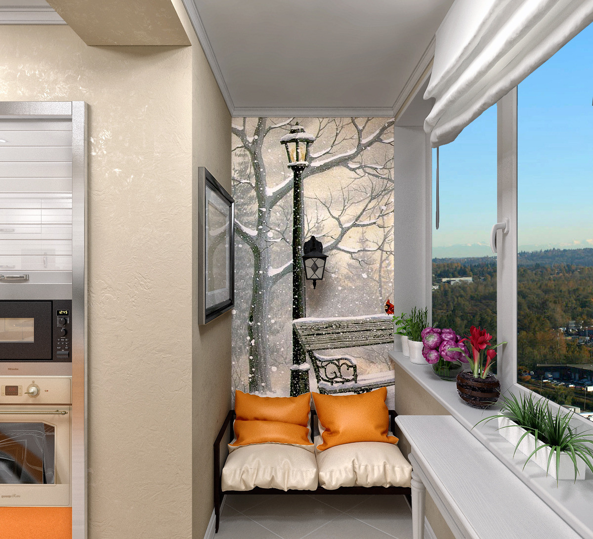 Уютный балкон необычный дизайн postila.