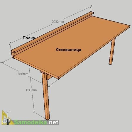 Fastening For A Folding Table How To Make On The Balcony - How To Build A Fold Down Work Table