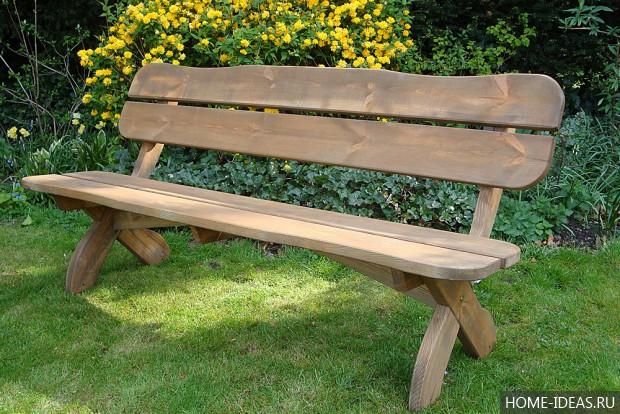 Садовые скамейки своими руками фото из дерева