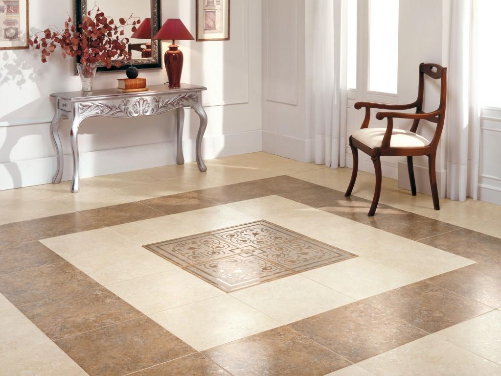 Design moderno delle piastrelle del pavimento. ingresso nero nella