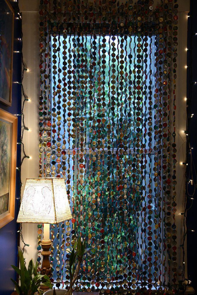 Декоративная штора из бусин своими руками 49