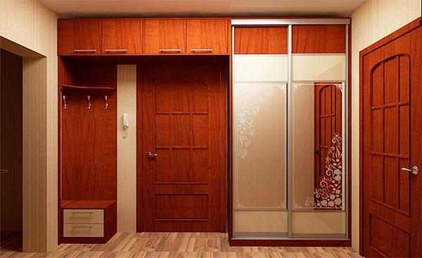 Варианты встроенных шкафов для прихожей