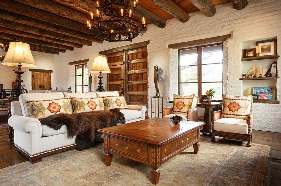 salon avec chemine de style campagnard pays dans le salon varits stylistiques