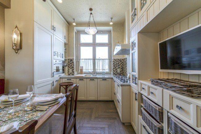 Progettazione di una cucina rettangolare 9 quadrati