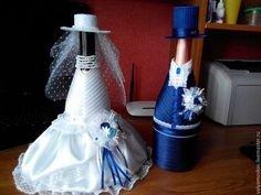 Как сделать шляпку невесте на бутылку шампанского