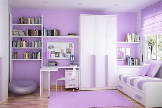 L\'interno lilla della sala. Lilla Living Room - Foto e suggerimenti.