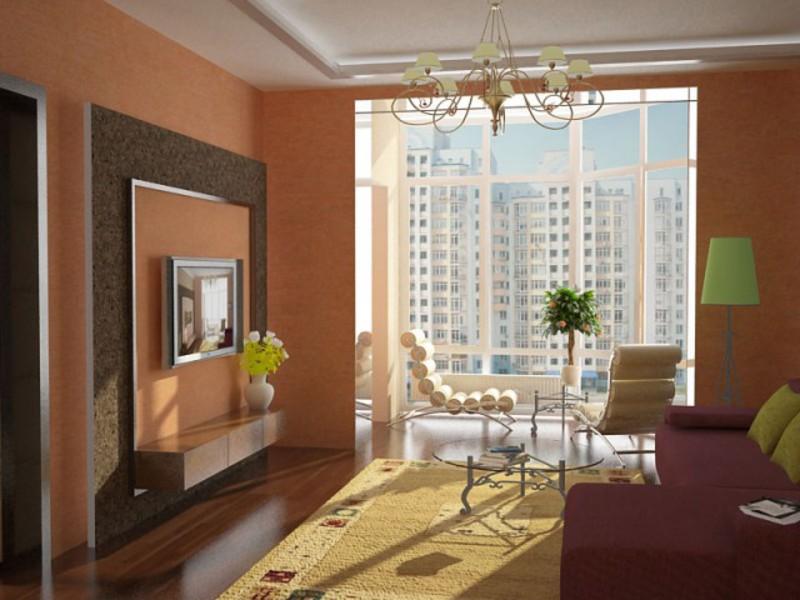 Інтер'єр невеликої кімнати з балконом. дизайн кімнати, суміщ.