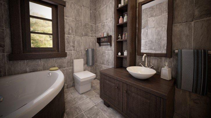 Bagni Per Case Di Campagna : Una stanza per bambini un atrio un armadietto un bagno in stile