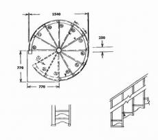 Avvitare le scale in una casa di legno. La costruzione di una scala ...