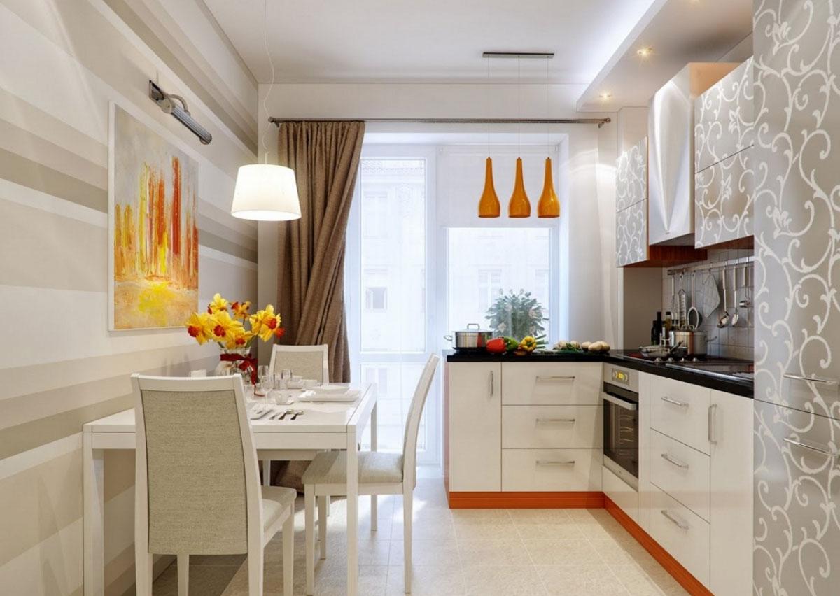 Дизайн пятиугольных кухонь