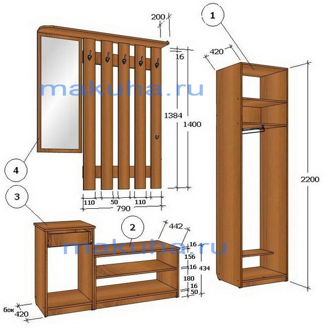Мебель в прихожку своими руками 73