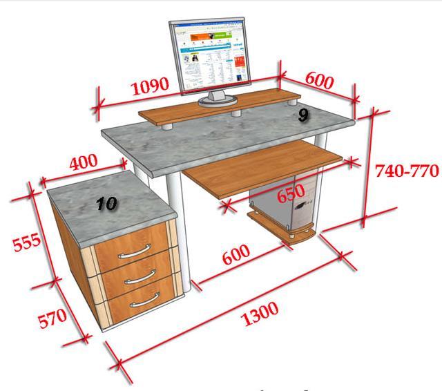 Как отремонтировать компьютерный стол своими руками 4272