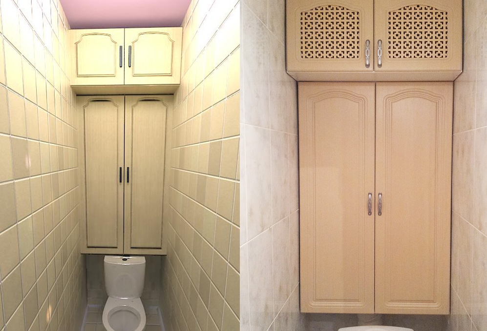 Как сделать шкафчик над унитазом