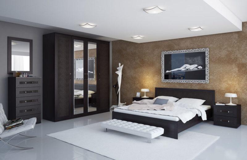 Camera da letto wengé e beige che altro colore. Mobili Wenge ...