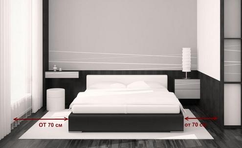 Camere da letto ergonomiche. Disposizione della camera da letto ...